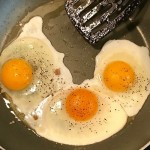 Fried Eggs at Home